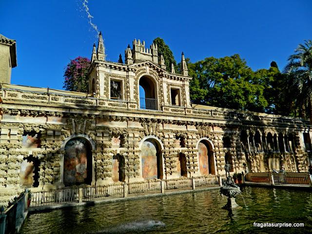 Fonte de Netuno, no Jardim do Príncipe, Real Alcázar de Sevilha