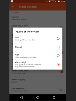 Google Play Music WiFi Streaming