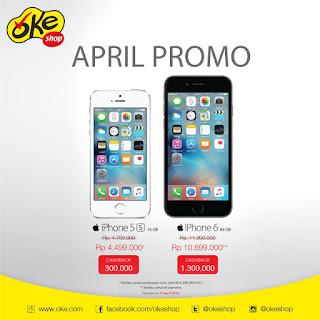 iPhone 5s Harga Spesial Rp 4.499.000 (16 GB) dan iPhone 6 Rp 10.699.000 (64 GB) di OkeShop