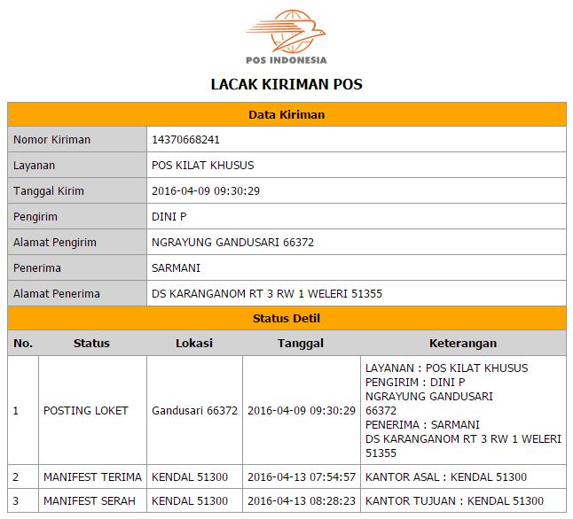 Image Result For Lacak Kiriman Pt Pos Indonesia