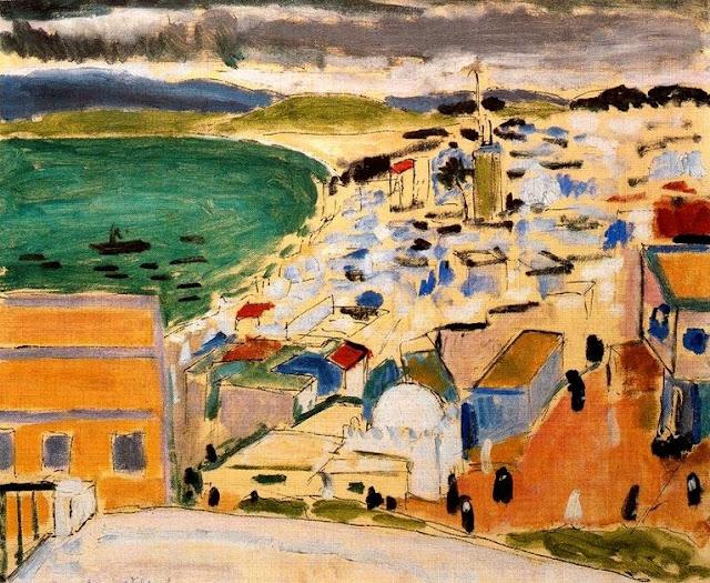 """Henri Matisse """"Widok na zatoke w Tangerze"""" (1912) Muséé de Grenoble"""