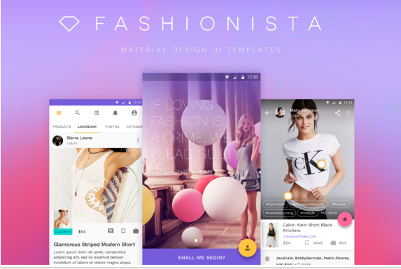 Fashionista - Android Ui Kit