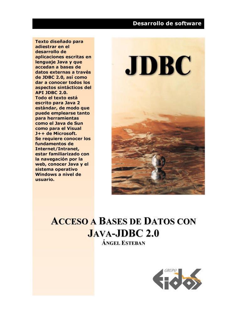 Acceso a bases de datos con Java-JDBC 2.0 – EIDOS