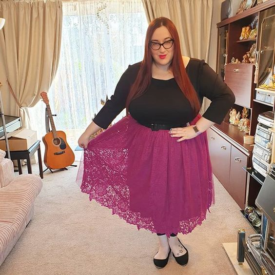 Society Plus Tulle and Lace Skirt