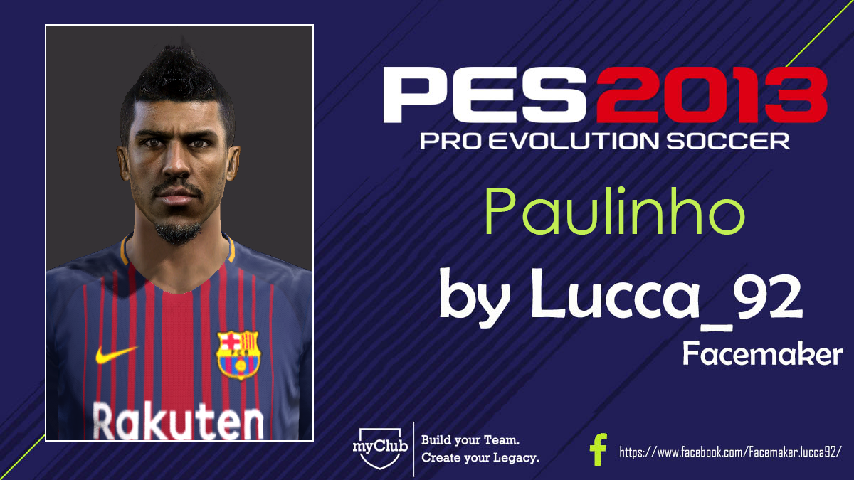 PES 2013 Paulinho Face By Lucca_92 Facemaker