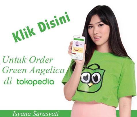 green angelica tokopedia, isyana sarasvati