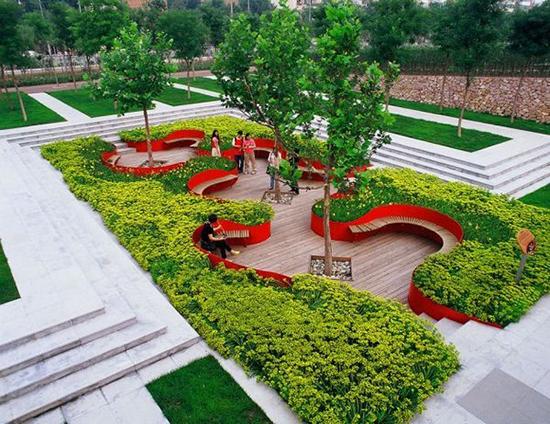 desain taman publik