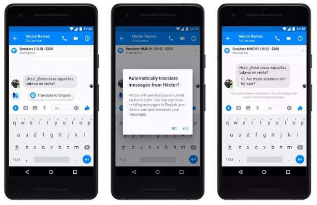 traduccion automatica en messenger