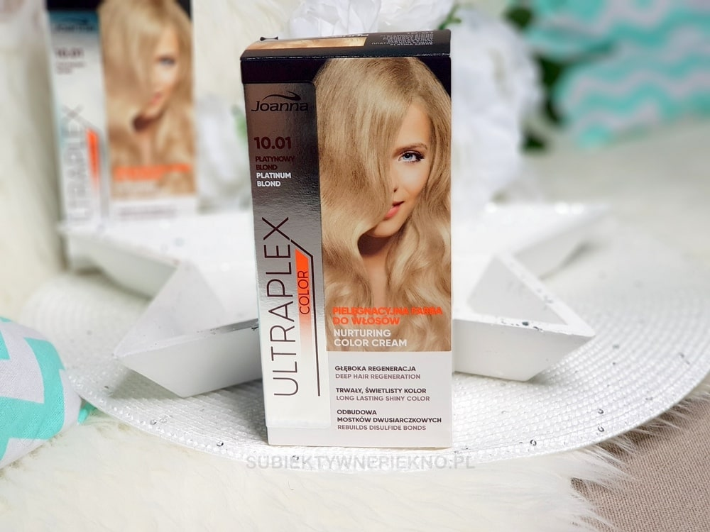 Joanna Ultraplex Color 10.01 Platynowy Blond | Efekty farbowania na ciemny blond