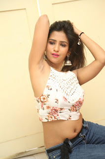 Deekshita Parvathi in a short crop top and Denim Jeans Spicy Pics Beautiful Actress Deekshita Parvathi January 2017 CelebxNext (204).JPG