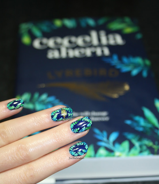 Lyrebird Cecelia Ahern Book Cover Nail Art