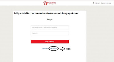 CARA RESET PASSWORD PG GARENA