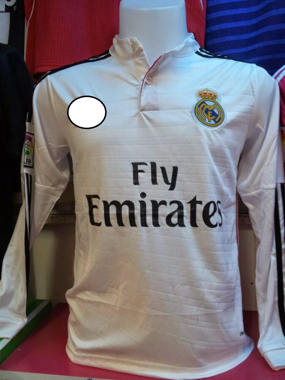 32fd12b87 JERSI KAMI  JERSI REAL MADRID CF 2014-2015   GRED LONG SLEEVE