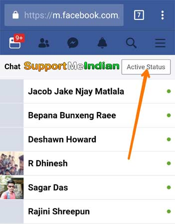 click active status