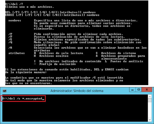 del /s *.encrypted.