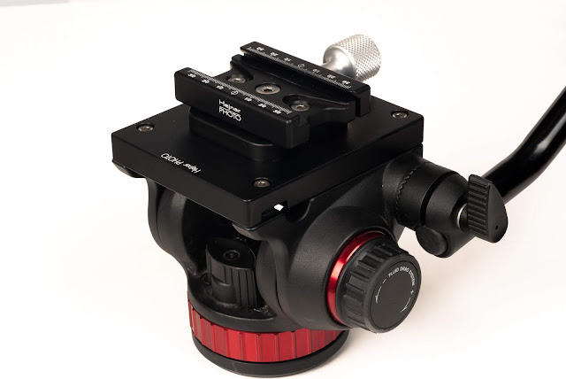 Hejnar MVH502F63 conversion set on Manfrotto MVH502AH Head overview
