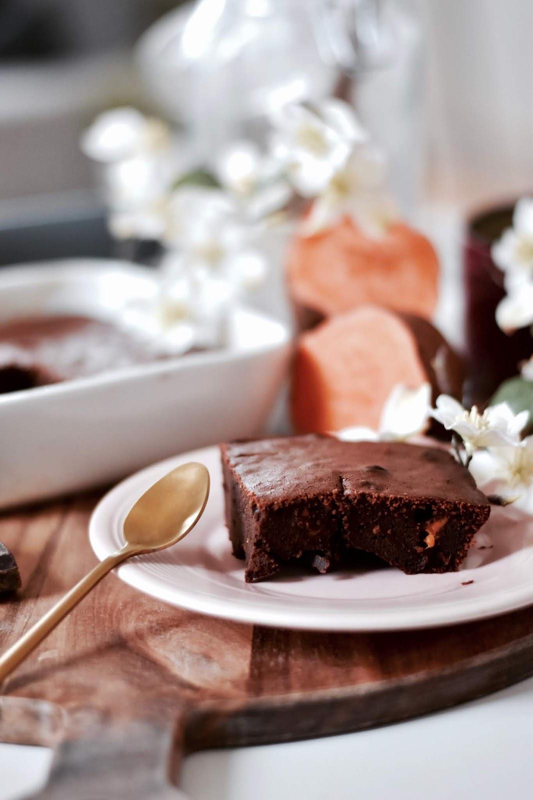 gâteau fondant au chocolat et à la patate douce