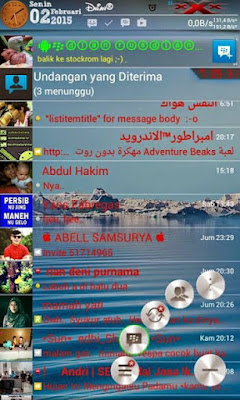 BBM MOD Transparan 2.6.0.30 With Change Text Color