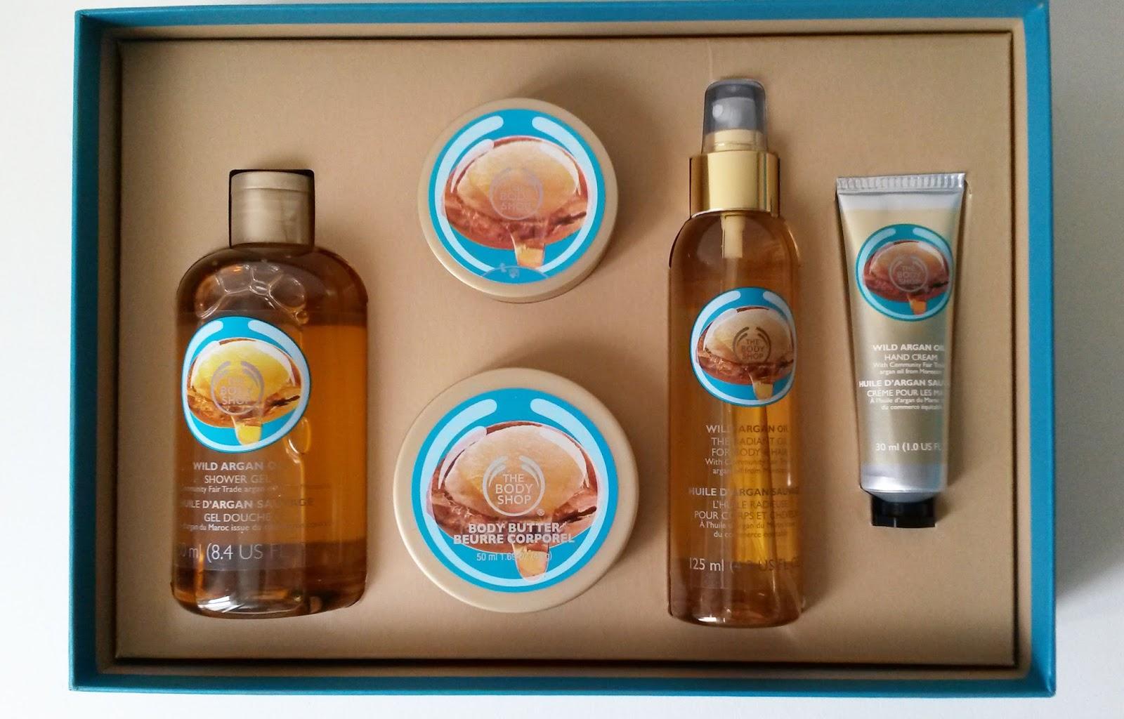 Coffret The Body Shop Huile d'argan sauvage