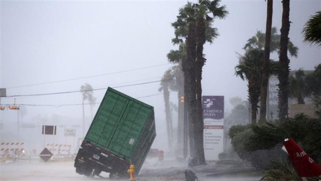 Flooding fears mount as Hurricane Harvey batters US Texas coast