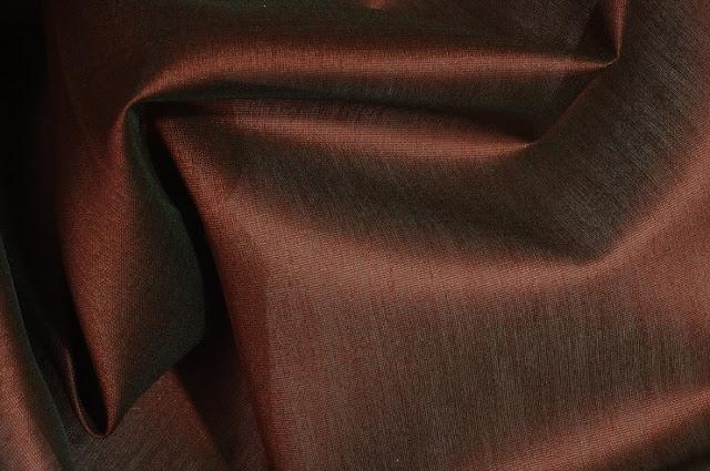 Mocha Brown Cotton Silk Fabric