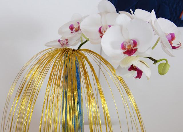 Art Quilt and Ikebana - Liselotte Bamert (Ikebana detail)