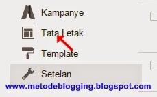 Tata Letak Dasbord Blogger