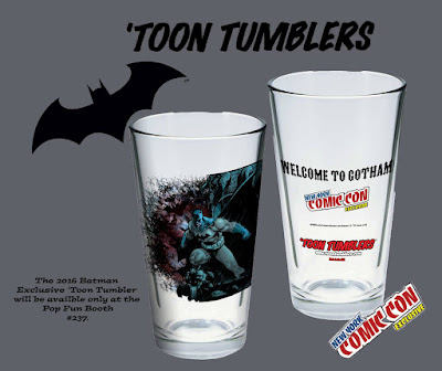 "New York Comic Con 2016 Exclusive Batman ""Welcome to Gotham"" Toon Tumbler Pint Glass by PopFun"