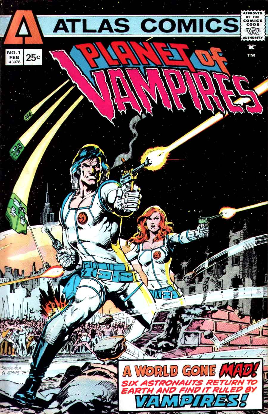 Planet of Vampires v1 #1 1970s bronze age comic book cover art by Neal Adams