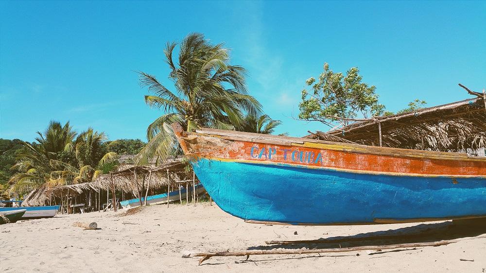 Fishing boat in Bahamas