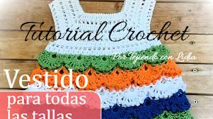 Vestido de niña para todos los talles / Tutorial Crochet
