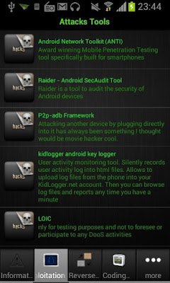 #2 تطبيق Droid Pentest Update