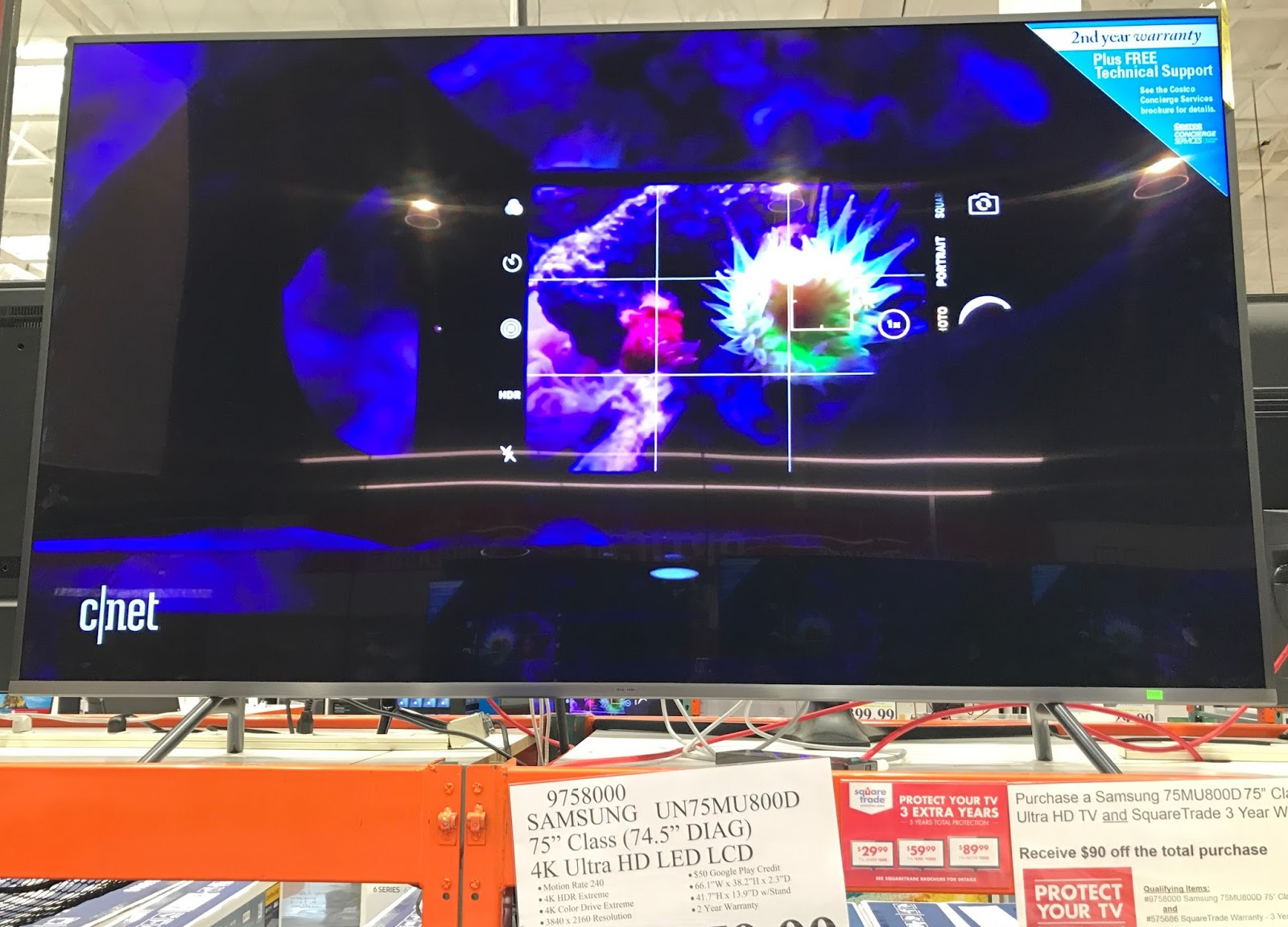 Costco 9758000 - Samsung UN75MU800D 75in 4K Ultra HD LED LCD TV: great for your family room