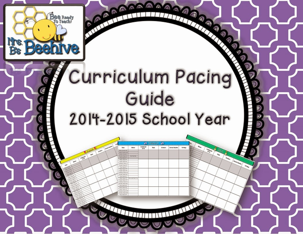 Mrs. B's Beehive - Editable 2014-2015 curriculum planning guide