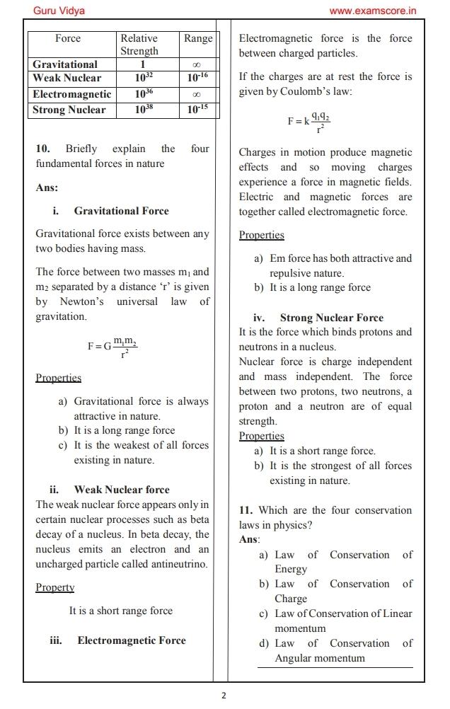 Physics 1 notes pdf