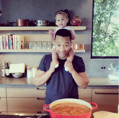 John Legend with his daughter