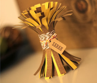 Mini Hay Bundle Name Place Card by The Twinery