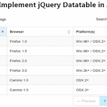 jQuery Datatable server side pagination and sorting in ASP