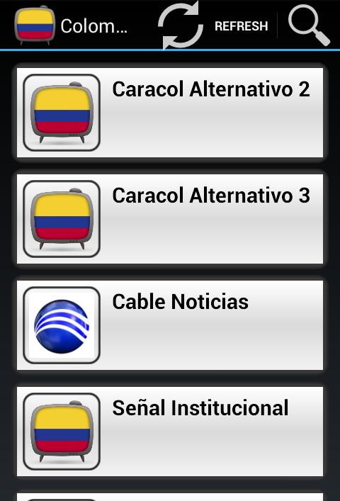 Listado de canales de televisión colombianos