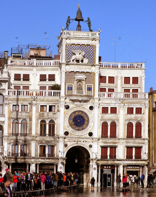 The Torre dell'Orologio, or Clock Tower, Venice