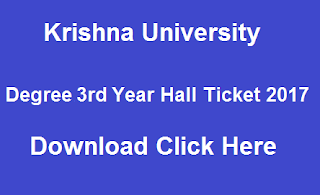 krishna university ug 3rd year hall tickets 2017 download