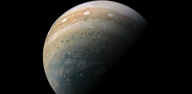 This image of Jupiter was captured by NASA's Juno spacecraft. Image Credit: Courtesy of NASA