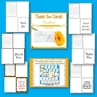 Thank You Teachers! Here are some thank you cards that are just perfect for teacher appreciation week! There's even a freebie!