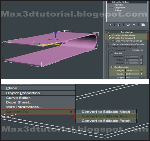 converting a 3ds max editable spline