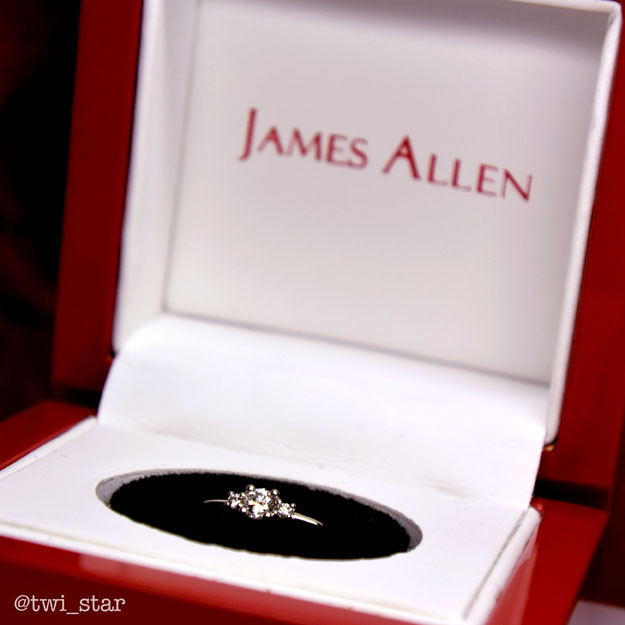 James Allen Rings and Preen.Me Engagment Ring Nail Art Charms