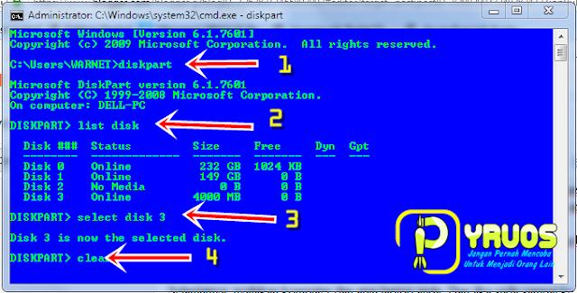 Cara Mudah Format Flashdisk Dengan CMD (Command Prompt)