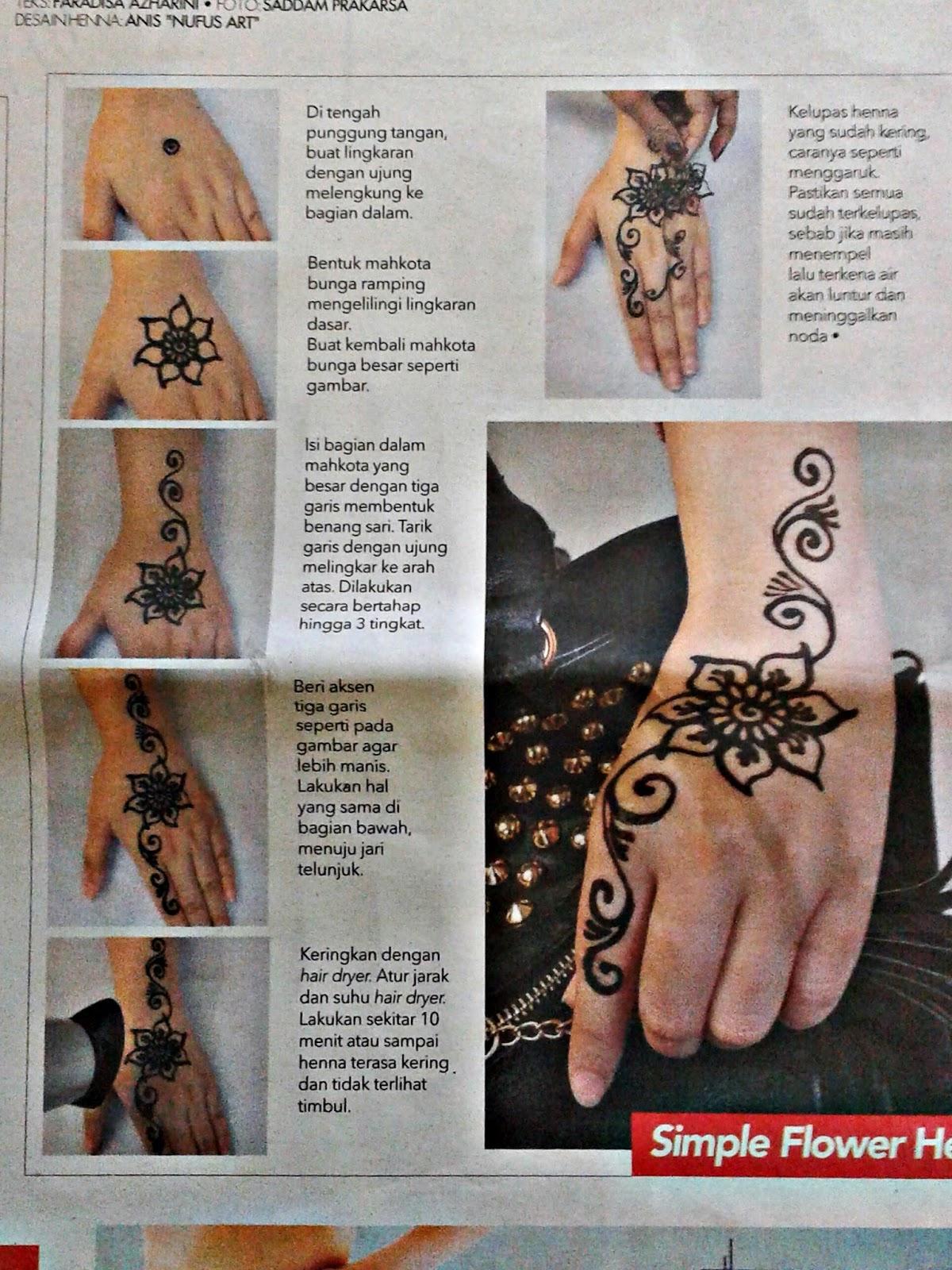 Tutorial Lukis Henna Oleh Nufus Art Di Tabloid Wanita Indonesia