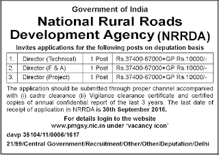 NRRDA Recruitment 2016