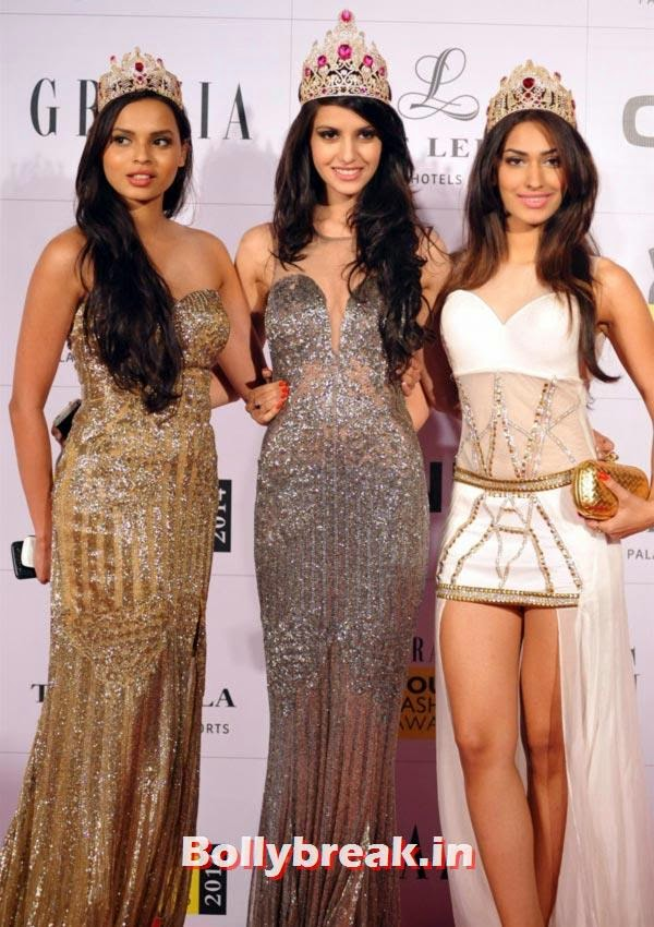 Gail Da Silva, Koyal Rana and Jhataleka Malhotra, Grazia Young fashion Awards Pics