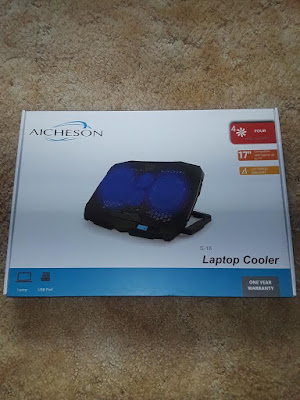 Does your Laptop get hot while using it? A Little Bit OF Something- A great Laptop Cooler with great fans working to cool your laptop.
